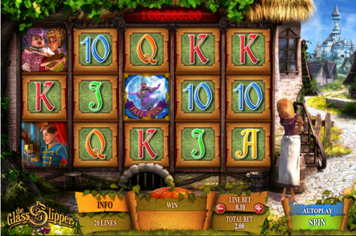 Free glass slipper slot game by Playtech