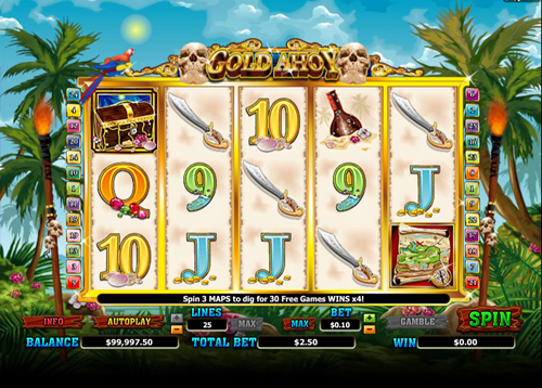 Free gold ahoy slot game by Microgaming