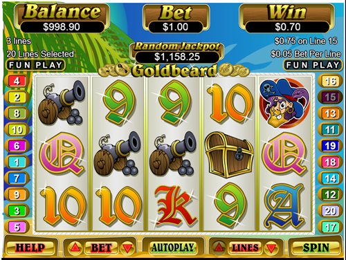 Play Aladdin`s Treasure online with no registration required!