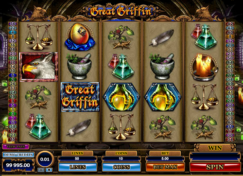 Free great griffin slot game by Microgaming