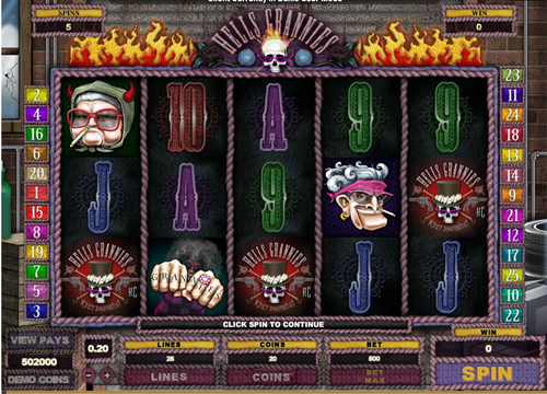 Free hell's grannies slot game by Microgaming