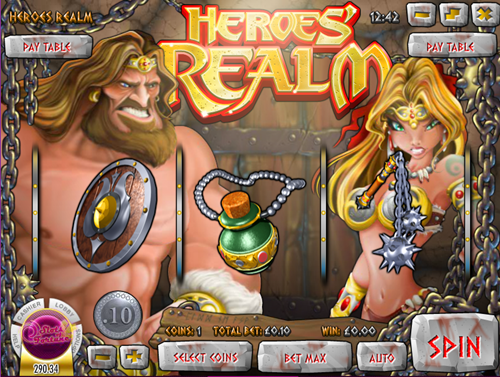 Free heroes' realm slot game by Rival Gaming