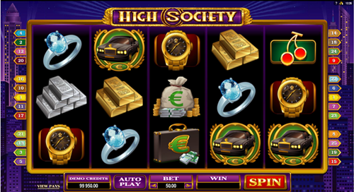 Free high society slot game by Microgaming