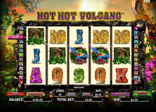 Free hot hot volcano slot game by Microgaming