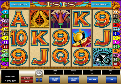 Free isis slot game by Microgaming