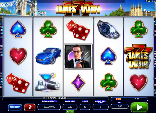 Free James Win slot game by Microgaming