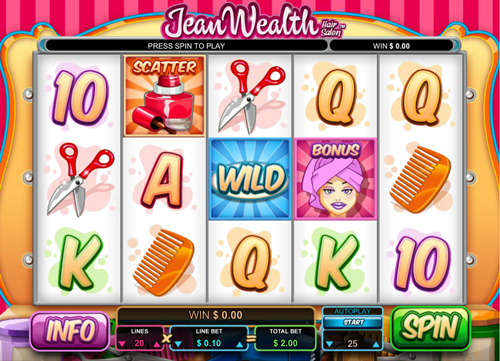 Free jean wealth slot game by Leander