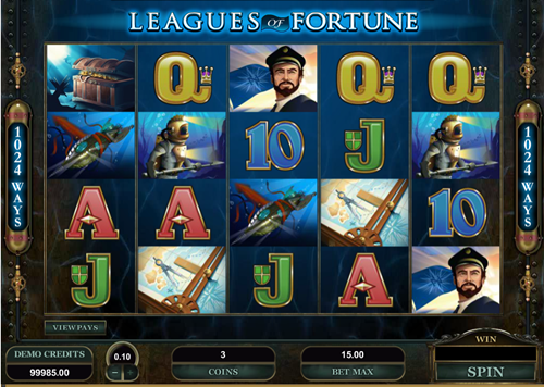 Free leagues of fortune slot game by Microgaming
