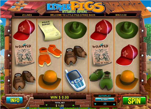 Free little pigs strike back slot game by Leander