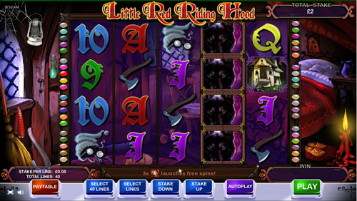 Free little red riding hood slot game by Cayetano