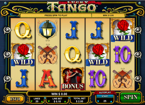 Free lucky tango slot game by Microgaming