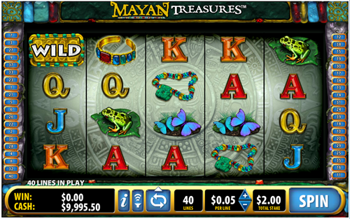 Free mayan treasures slot game by Bally