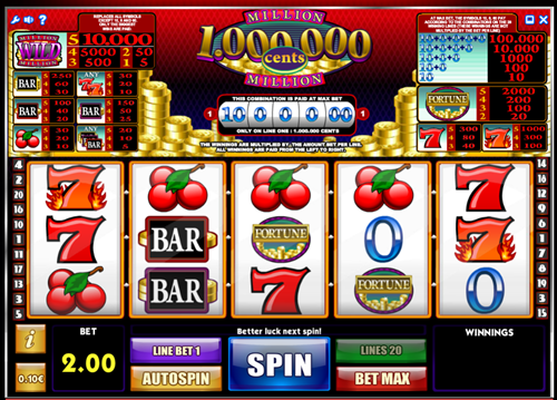 Free million cents slot game by iSoftBet
