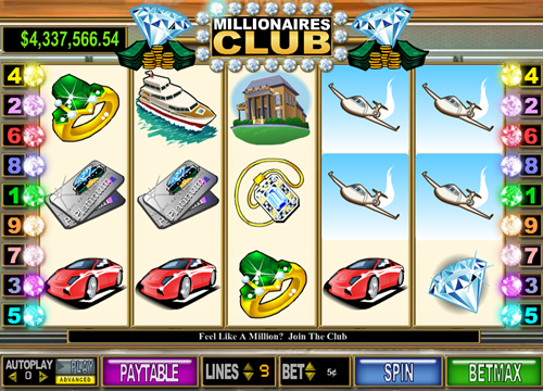 Free millionaires club II slot game by Cryptologic