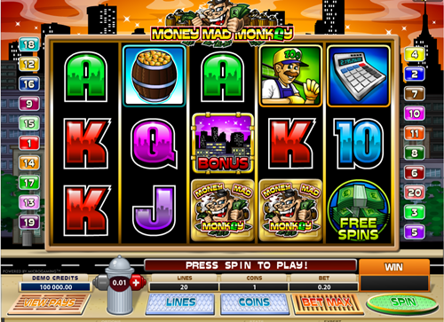 Free money mad monkey slot game by Microgaming