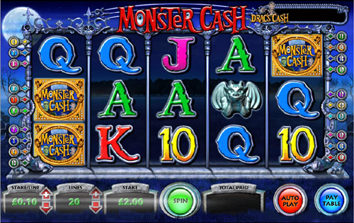 Free monster cash slot game by OpenBet