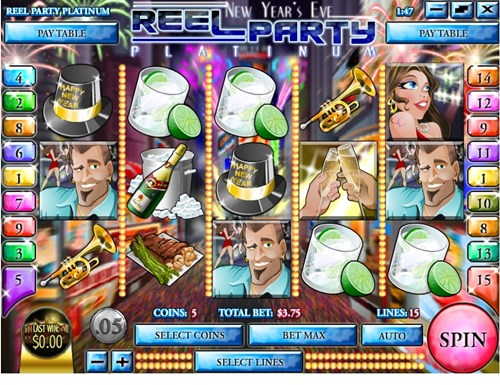 Free new year's eve reel party slot game by Rival Gaming