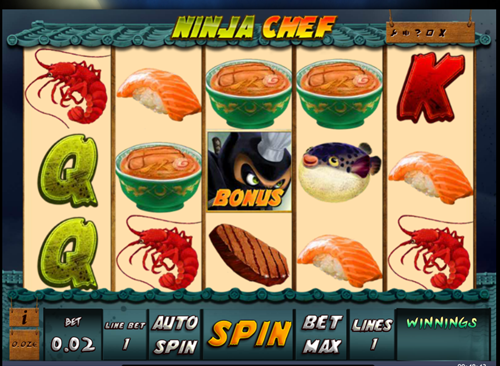Free ninja chef slot game by iSoftBet