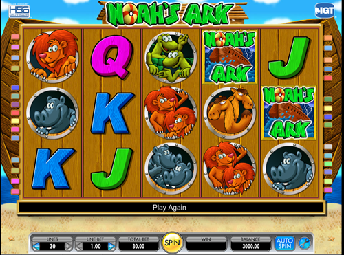 Free noah's ark slot game by IGT