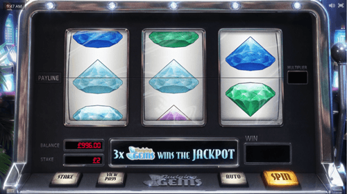 Free nudging gems slot game by Cayetano