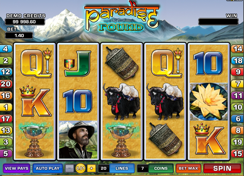 Free paradise found slot game by Microgaming