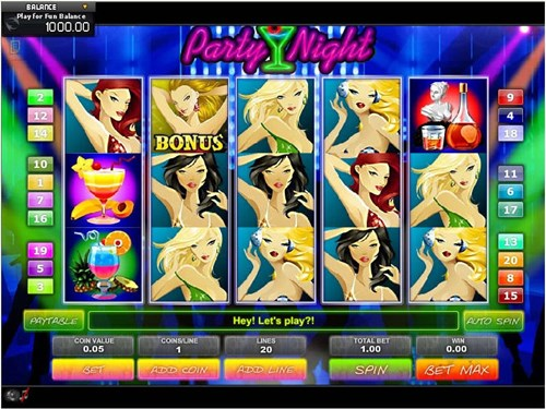 Free party night slot game by GamesOS