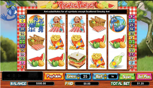 Free picnic panic slot game by Cryptologic