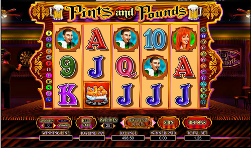 Free pints and pounds slot game by Amaya