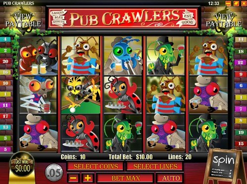 Free pub crawlers slot game by Rival Gaming
