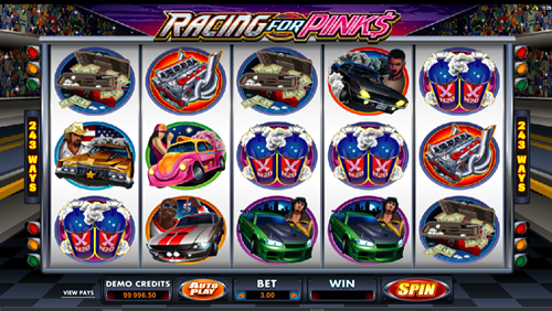 Free racing for pinks slot game by Microgaming