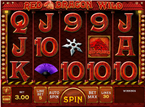 Free red dragon slot game by iSoftBet