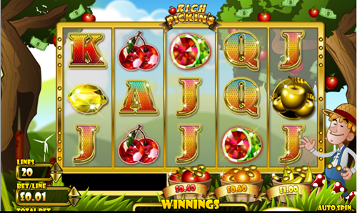 Free rich pickin's slot game by OpenBet