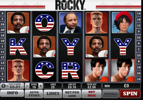 Free rocky slot game by Playtech