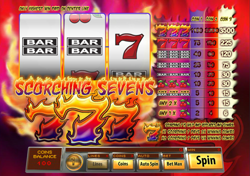 Free scorching sevens slot game by Saucify