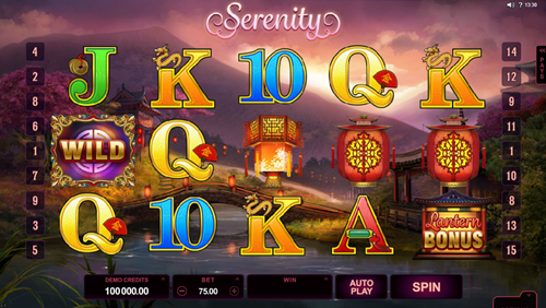 Free Serenity slot game by Microgaming