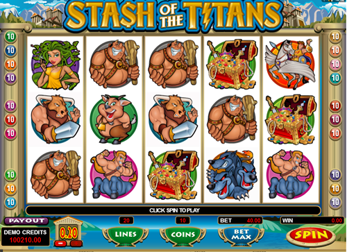 Free stash of the titans slot game by Microgaming