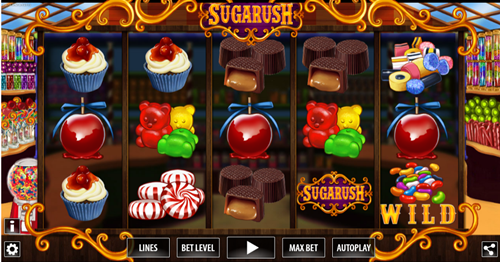 Free sugarush HD slot game by World Match Games