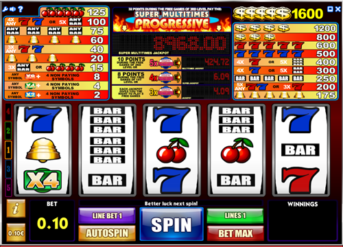 Free super multitimes progressive slot game by iSoftBet
