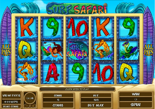 Free surf safari slot game by Microgaming