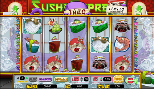 Free sushi express slot game by Amaya