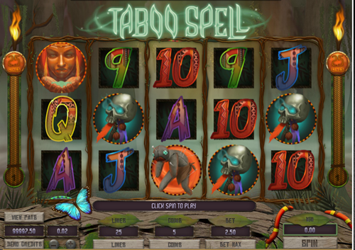 Free taboo spell slot game by Microgaming