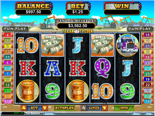 Free texan tycoon slot game by RTG