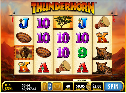 Free thunderhorn slot game by Bally