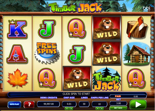 Free timber jack slot game by Mcrogaming
