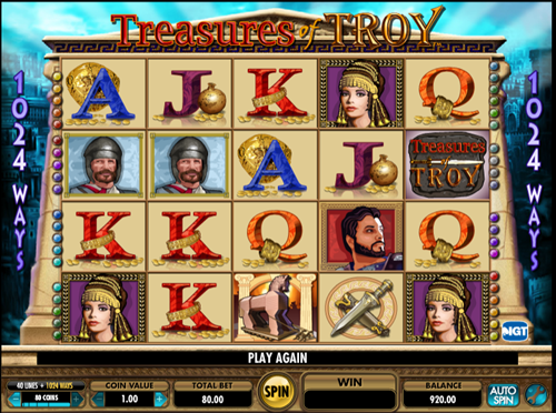 Free treasures of troy slot game by IGT