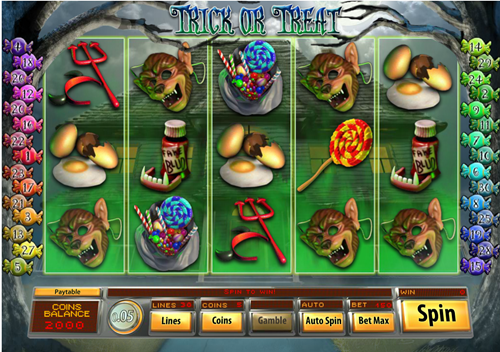 Free trick or treat slot game by Saucify