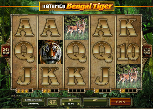 Free untamed bengal tiger slot game by Microgaming