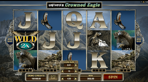 Free untamed crowned eagle slot game by Microgaming