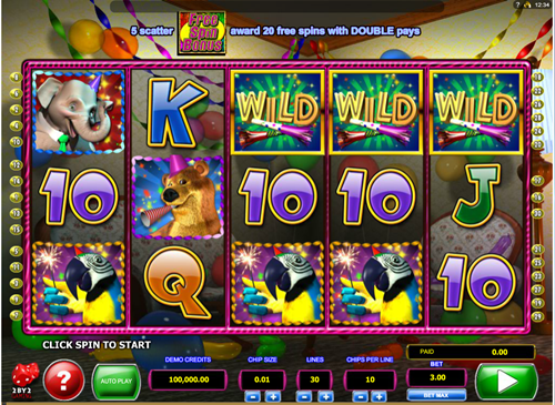 Free wild birthday blast slot game by Microgaming