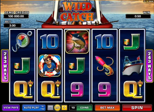 Free wild catch slot game by Microgaming